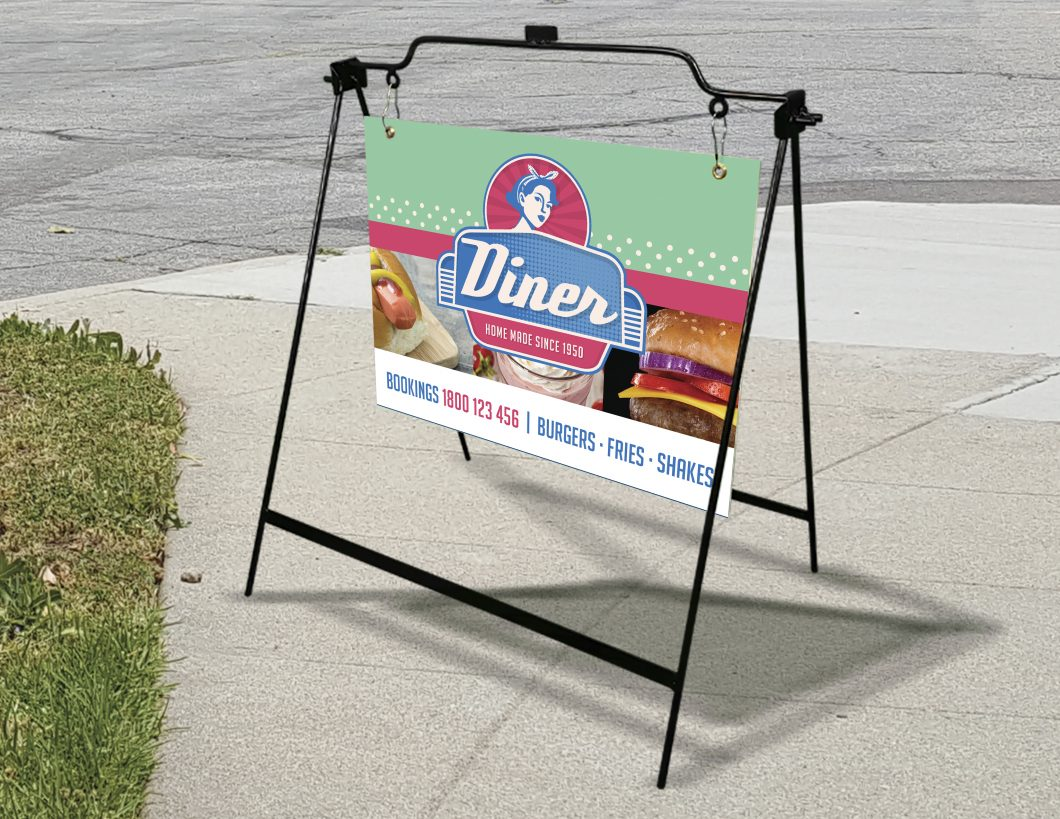 Picture of an A-Frame for a Diner