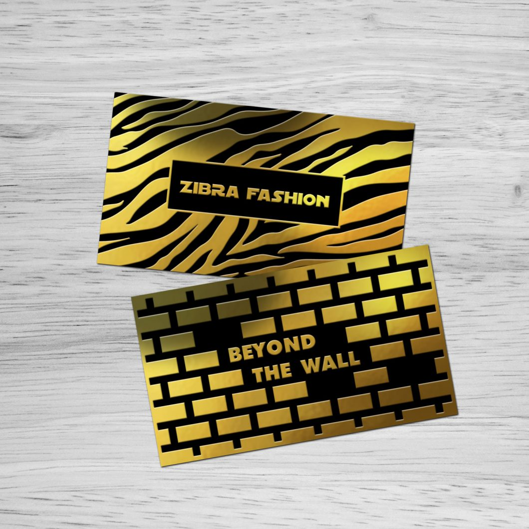 Business cards foil dade county
