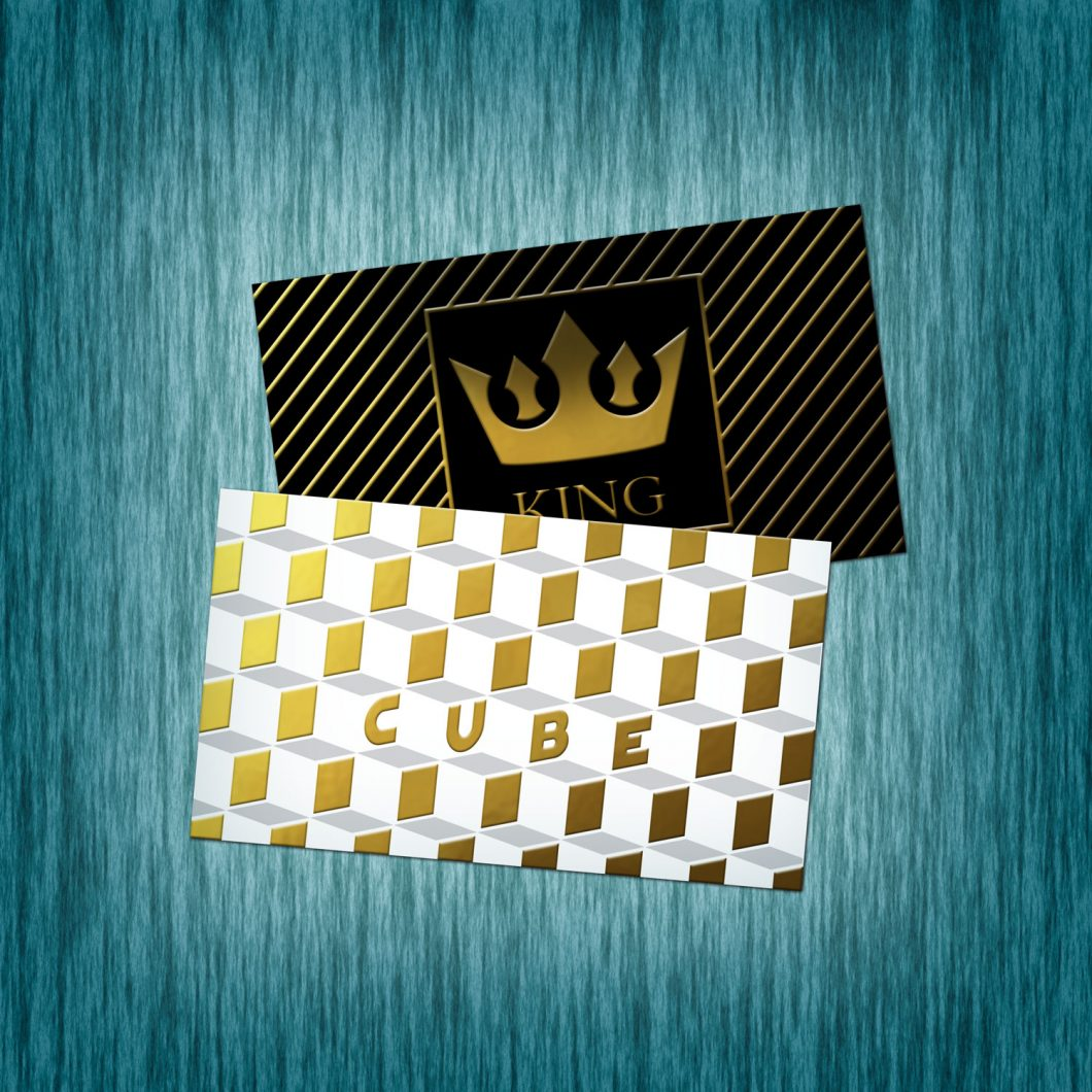 Business cards foil miami beach