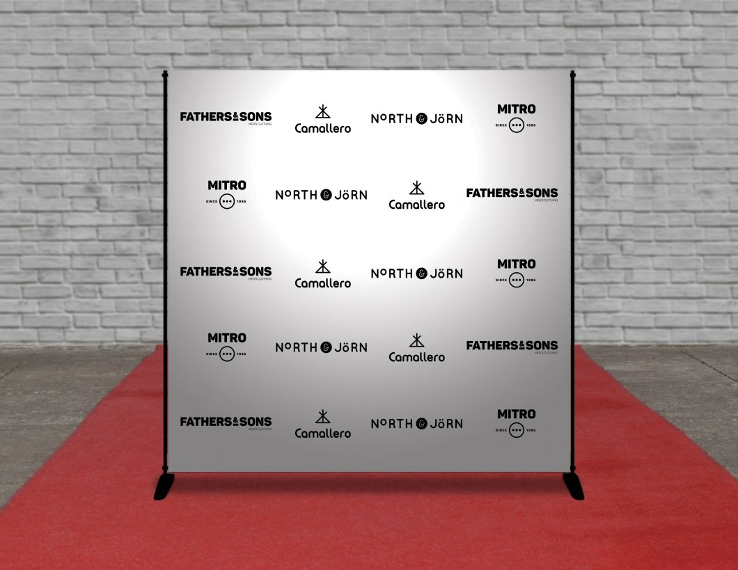 Step and Repeat Backdrop 8 x 8